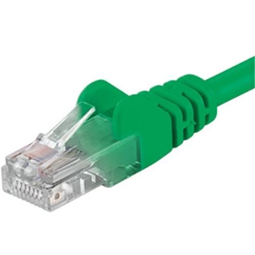 Patch kábel UTP RJ45-RJ45 level CAT6, 10m, zelený sp6utp100G