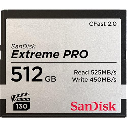 SanDisk Extreme Pro CFAST 512GB 525MB s SDCFSP 512G G46D