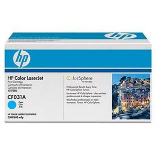 Toner HP CF031A HP646 azúrový pre Color LaserJet CM4540, 12500str.