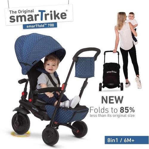 SMART TRIKE - trojkolka 700 Fold 8v1 Modrá 550-0800