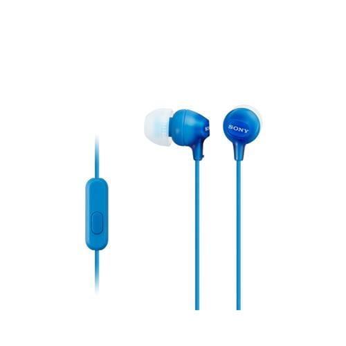 Slúchadlá SONY MDR-EX15AP do uší s mikrofónom, Blue MDREX15APLI.CE7