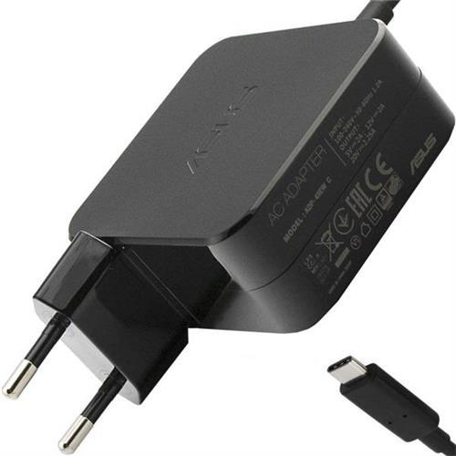 ASUS AC NAPÁJACÍ ADAPTÉR 65W 19V 2pin typ- C , s EU plug, čierny B0A001-00443300