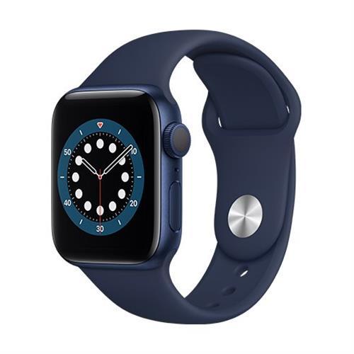 Apple Watch Series 6 GPS, 40mm Blue Aluminium Case with Deep Navy Sport Band - Regular MG143VR/A
