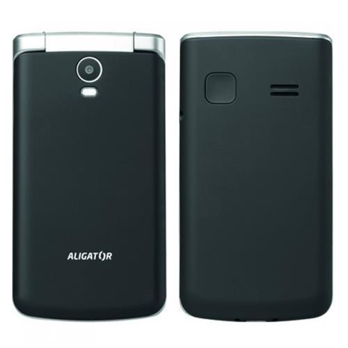 ALIGATOR V710 Senior čierno-strieborný + stolná nabíjačka AV710BS