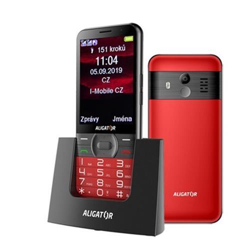 ALIGATOR A900 Senior červený + stolná nabíjačka A900R
