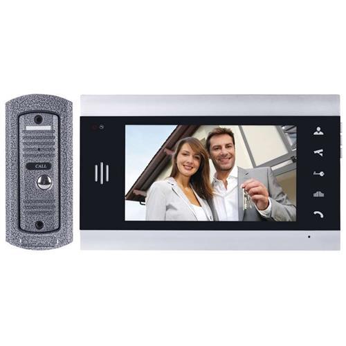 """Emos videotelefón H2013, farebný 7 """"LCD + kamera s 1 tlačidlom, strieborná 3010000120"""