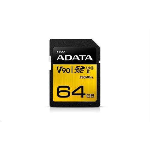 ADATA 64GB SDXC UHS-II U3 CLASS10 ASDX64GUII3CL10-C