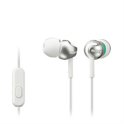 Slúchadlá SONY MDR-EX110AP do uší s mikrofónom, White MDREX110APW.CE7