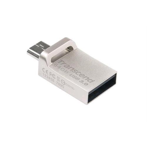USB kľúč 64GB Transcend JetFlash 880S OTG, microUSB / USB 3.0 (R/W: 90/24 MB/s) TS64GJF880S