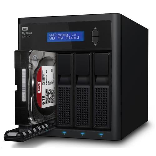 """WD My CLOUD EX 4100, 32 TB (4x8TB) 3,5"""", RJ45, NAS WDBWZE0320KBK-EESN"""