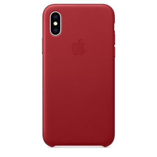 iPhone XS Leather Case - (PRODUCT)RED MRWK2ZM/A