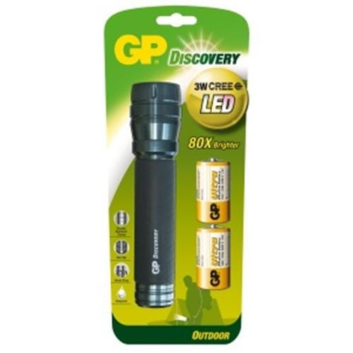 Svietidlo LED GP LOE404 + 2 batérie GP R20 1451404000