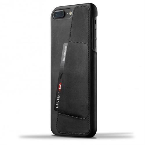 MUJJO Leather Wallet Case pre iPhone 8 Plus / 7 Plus - čierny MUJJO-CS-071-BK