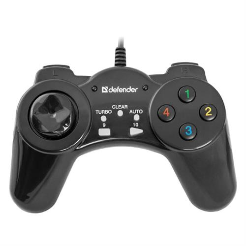Gamepad Defender Vortex, 13tl., USB, čierny, vibračné, Windows 2000/XP/Vista/7/8/10 64249