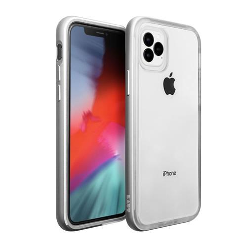 LAUT Exoframe – Case for iPhone 11 Pro, Silver LAUT-IP19S-EX-SL