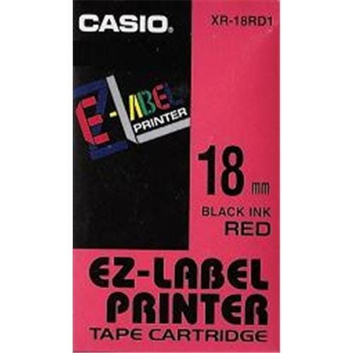 Páska CASIO XR-18RD1 Black On Red Tape EZ Label Printer (18mm)