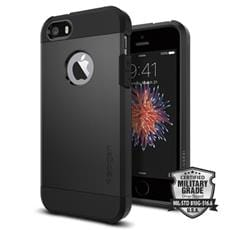 Spigen kryt Tough Armor pre iPhone SE - Black