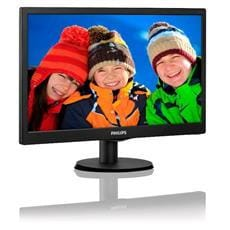 "Monitor Philips 203V5LSB26/10, 19.5"", W-LED, 1600x900, 10M:1, 5ms, 200cd, D-SUB, čierna textúra"
