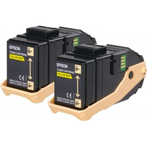 Toner EPSON Aculaser C9300 yellow double pack 2x 7500str.
