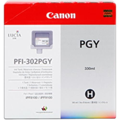 Kazeta CANON PFI-302PGY photo grey iPF 8100/9100 (330ml)