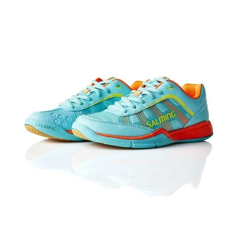 SALMING Adder Junior Turquoise/Shock Orange 5,5 UK, 38 2/3 EUR