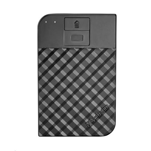 VERBATIM HDD 1TB Fingerprint Secure Portable Hard Drive, Black 53650