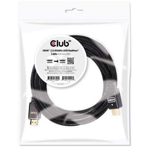 Club3D HDMI 2.0 4K 60Hz UHD M/M kábel 15 m CAC-2314