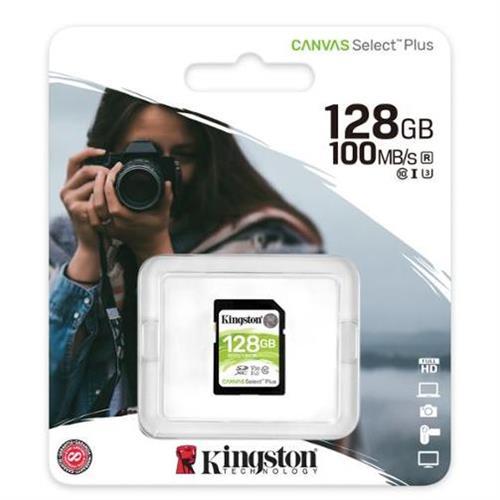 128GB SDXC Kingston Canvas Select Plus U3 V30 CL10 100MB/s SDS2/128GB