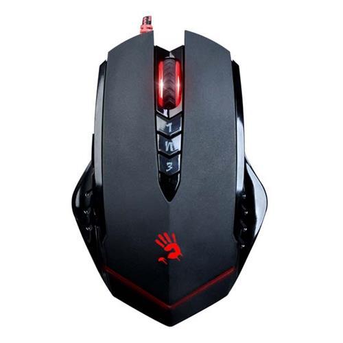 A4tech BLOODY V8 herná myš, až 3200DPI, V-Track technológia, 160KB pamäť, USB, CORE 3, kovové podložky V8MA