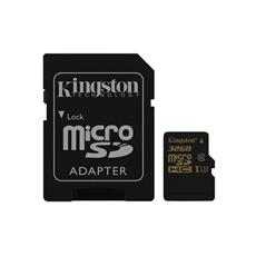 Kingston 32GB microSDHC/SDXC Class U3 UHS-I ( r90MB/s, w45MB/s ) + SD adaptér