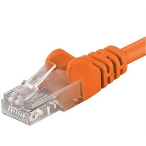Patch kábel UTP RJ45-RJ45 level CAT6, 10m, oranžový sp6utp100E