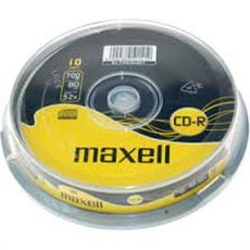 CD-R MAXELL 700MB 52X 10ks/cake