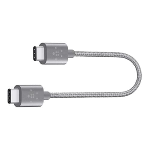 Kábel BELKIN MIXIT USB-C to USB-C, 20cm, šedý F2CU041bt06INGY