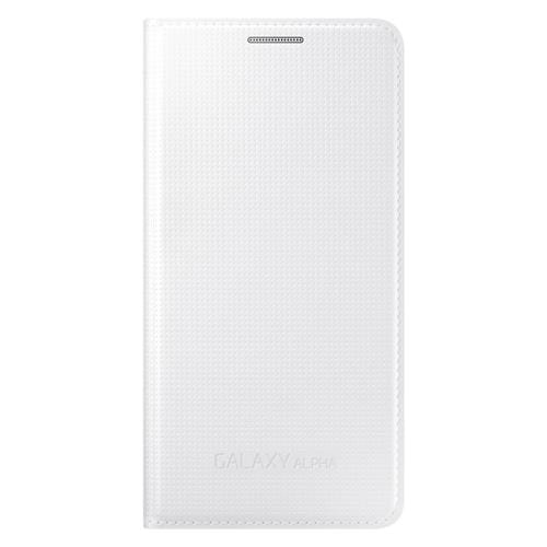 Samsung flipové puzdro EF-FG850B pre Samsung Galaxy Alpha (SM-G850), biele EF-FG850BWEGWW
