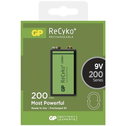 Nabíjacia batéria GP 6F22/ 9V (200mAh) - 1ks 1033511030