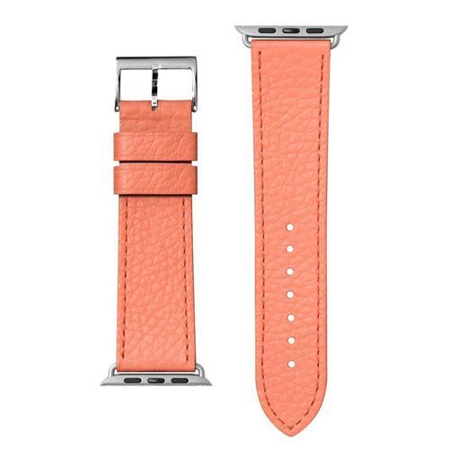 LAUT Milano – kožený remienok na Apple Watch 38/40 mm, korálový LAUT-AWS-ML-P