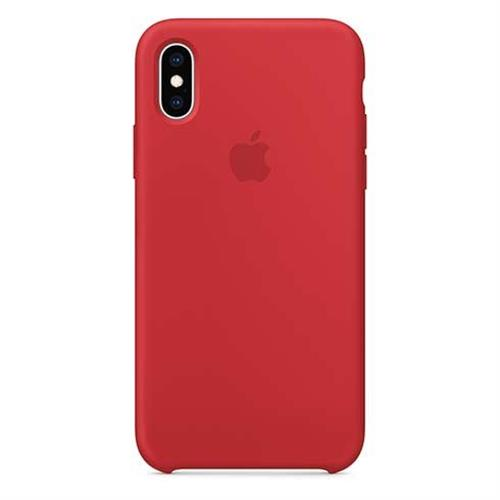 iPhone XS Silicone Case - (PRODUCT)RED MRWC2ZM/A