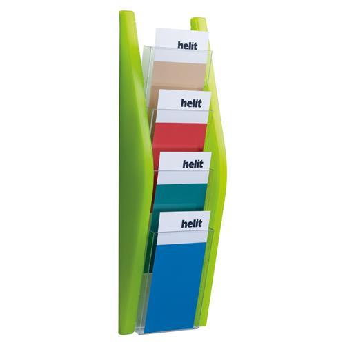 Prezentačný stojan Helit 4x1/3A4 zelený HE627035