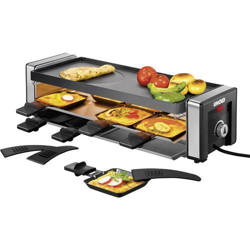 Stolný raclette gril Unold Delice, 48765, 1100 W, čierna/strieborná