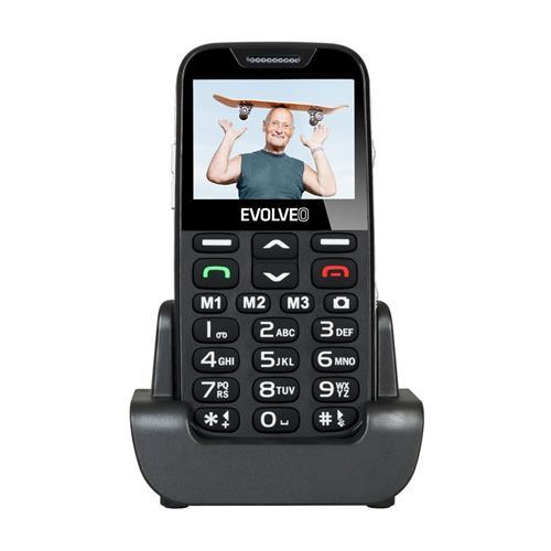 EVOLVEO EasyPhone XD, telefón pre seniorov, čierny EP-600-XDB
