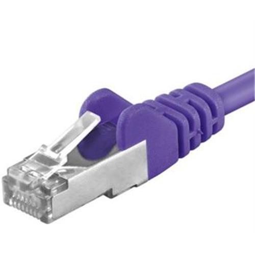 Premiumcord Patch kábel CAT6a S-FTP, RJ45-RJ45, AWG 26/7 0,5m, fialový sp6asftp005V