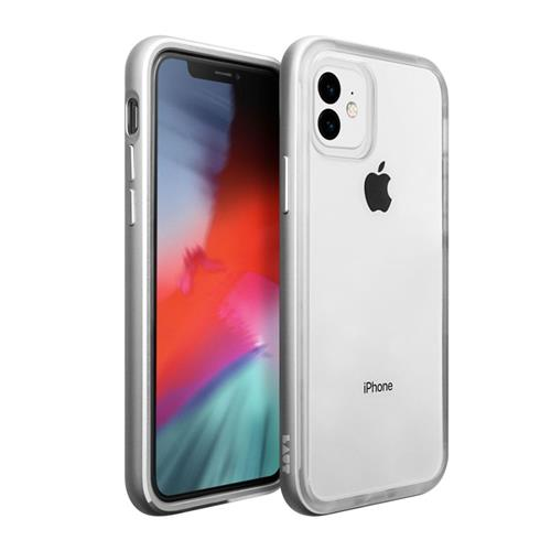 LAUT Exoframe – Case for iPhone 11, Silver LAUT-IP19M-EX-SL