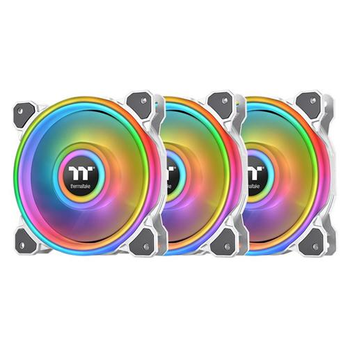 Thermaltake Ventilátor Riing Quad 12 RGB 3 Pack White Edition (Fan + Controller) CL-F100-PL12SW-A