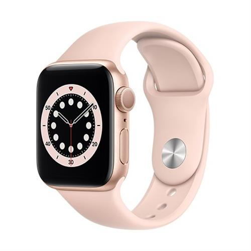 Apple Watch Series 6 GPS, 40mm Gold Aluminium Case with Pink Sand Sport Band - Regular MG123VR/A