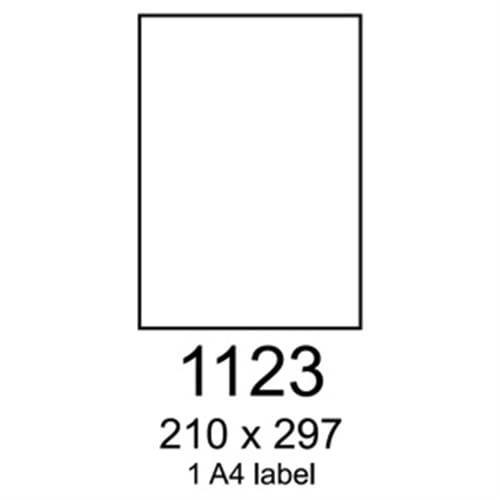 Etikety RAYFILM 210x297 univerzálne biele R01001123A (2x slit 7cm) R0100.1123A2xS