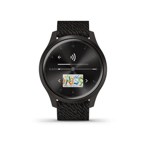 Garmin vivomove Style Slate Black Pepper  Nylon 010 02240 23