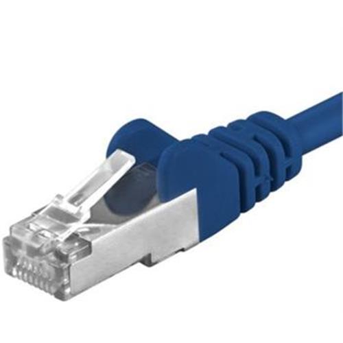 Premiumcord Patch kábel CAT6a S-FTP, RJ45-RJ45, AWG 26/7 0,5m, modrý sp6asftp005B