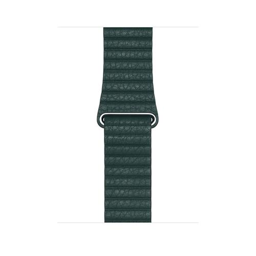 Apple Watch 44mm Band: Forest Green Leather Loop - Large mth82zm/a