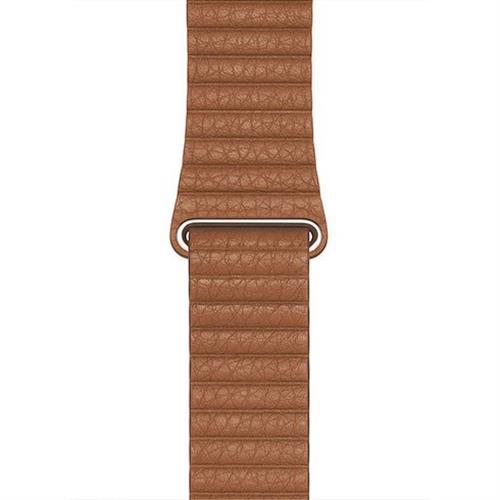 Apple Watch 44mm Saddle Brown Leather Loop - Medium MXAF2ZM/A