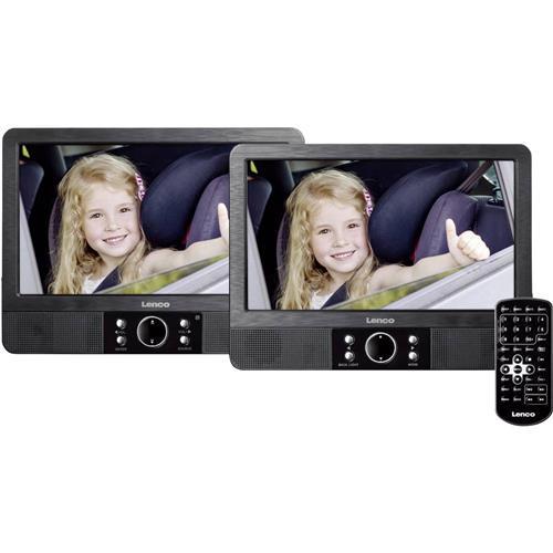 """DVD prehrávač do opierok hlavy, 2x LCD Lenco MES-405, 22.5 cm (9 """") 1438441"""